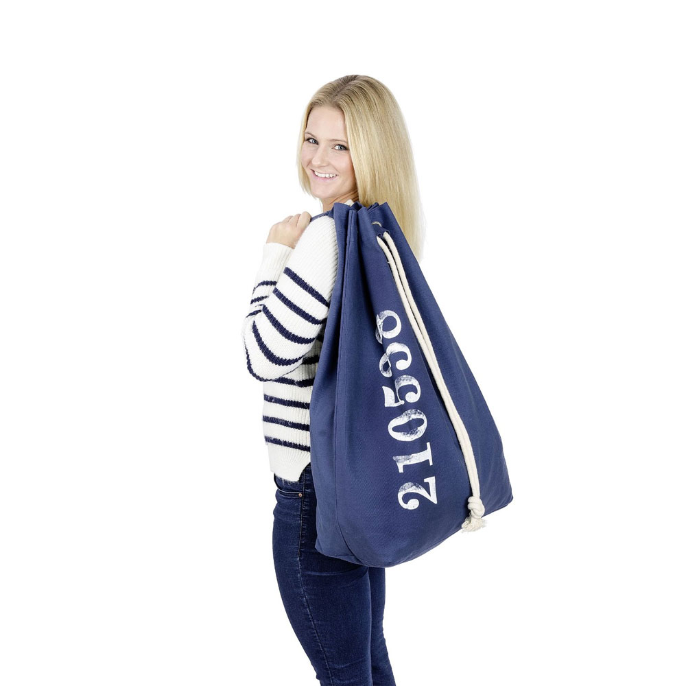 Wenko Sailor Laundry Bag - Blue - 62041100 additional Large Image