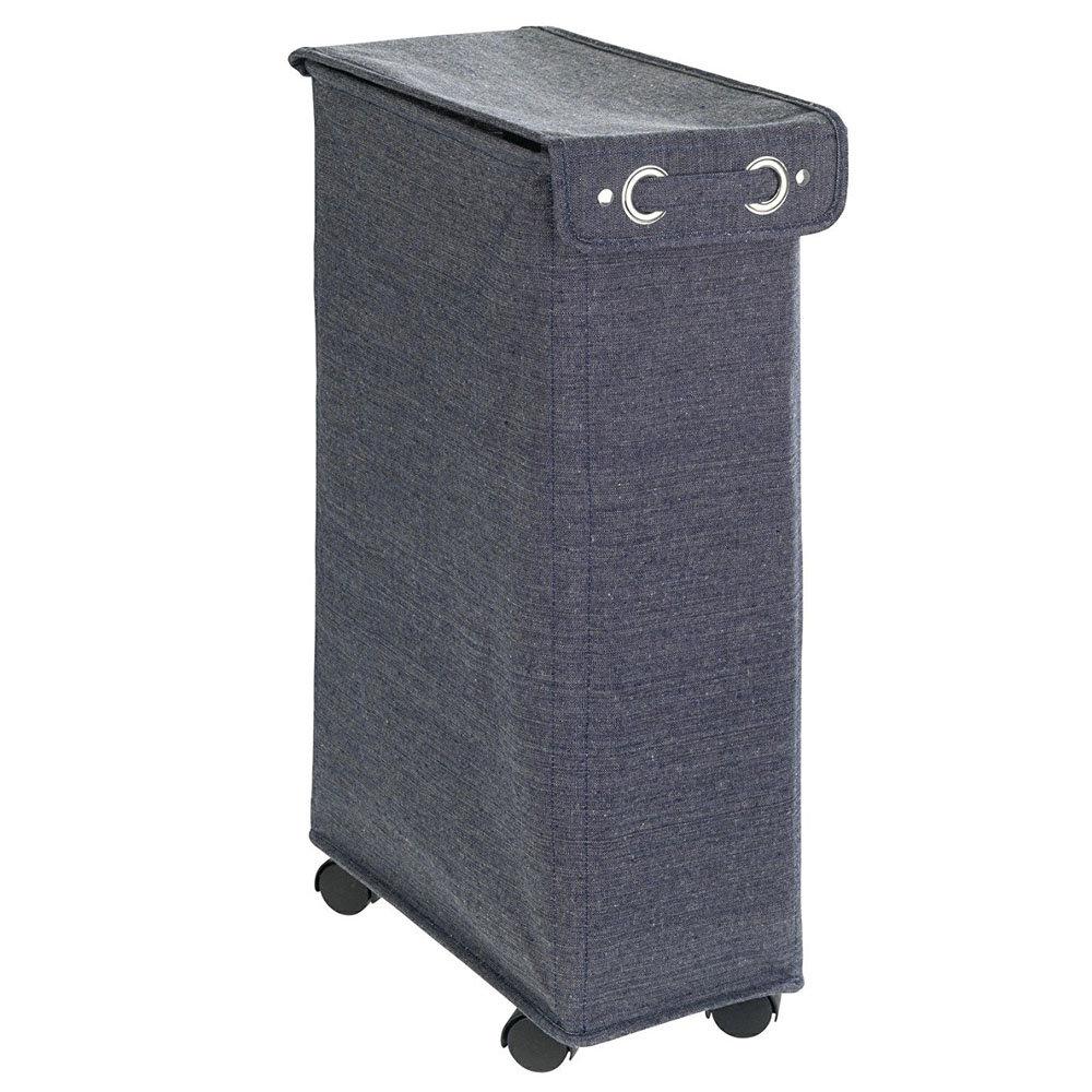 Wenko Corno Prime Blue Laundry Bin with Lid - 62135100