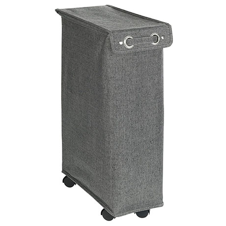 Wenko Corno Prime Grey Laundry Bin with Lid - 62136100