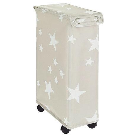 Wenko Corno Stella Laundry Bin with Lid - 62140100