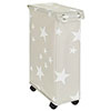 Wenko Corno Stella Laundry Bin with Lid - 62140100 profile small image view 1