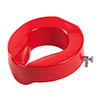 "Drive DeVilbiss 4"" Red Rasied Toilet Seat - 62174 profile small image view 1"