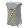 Wenko Bahari Bamboo Foldable Laundry Bin - 62211100 profile small image view 1