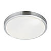 Searchlight LED Flush Fitting with Aluminium Trim & White Acrylic Shade - 6245-33-LED profile small image view 1