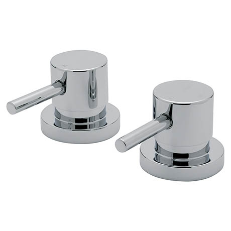 "Tre Mercati - Milan Chrome Plated Pair of 3/4"" Side Valves - 63000"