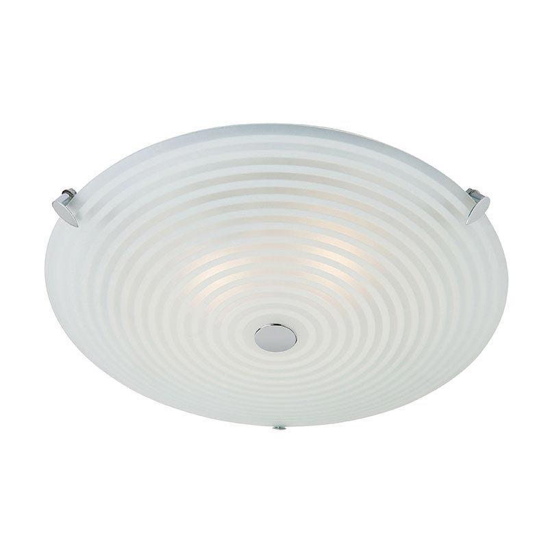 Endon - Roundel Ceiling Acid Glass with Swirl Light Fitting - 633-32 Large Image