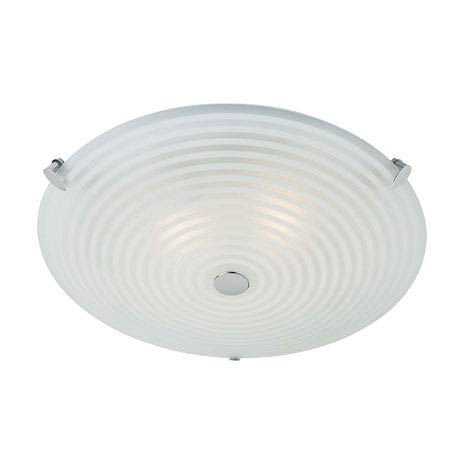 Endon - Roundel Ceiling Acid Glass with Swirl Light Fitting - 633-32