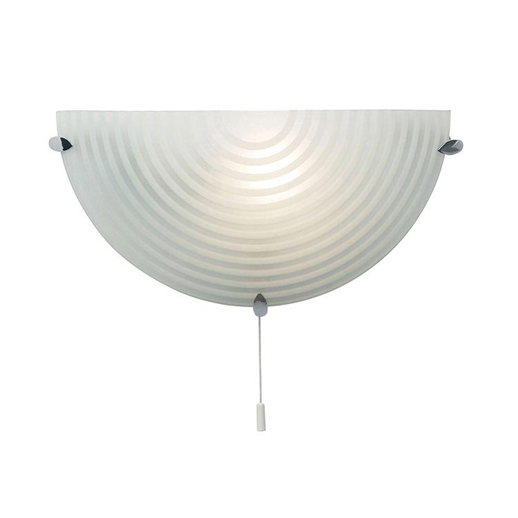 Endon - Roundel Wall Hung Acid Glass with Swirl Light Fitting - 633-WB Large Image