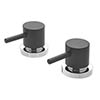 "Tre Mercati - Milan Black Pair of 3/4"" Side Valves - 63300 profile small image view 1"
