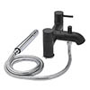 Tre Mercati - Milan Black Pillar Bath/Shower Mixer & Kit - 63355 profile small image view 1