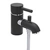 Tre Mercati Milan Black Mono Bath Shower Mixer & Kit - 63360 profile small image view 1