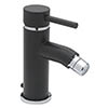 Tre Mercati - Milan Black Mono Bidet Mixer with Pop Up Waste - 63380 profile small image view 1