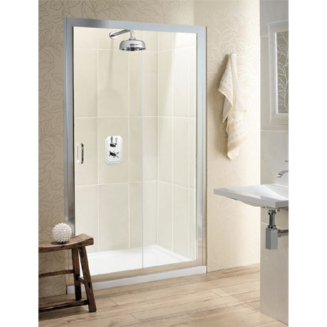 Simpsons - Classic Single Slider Shower Door - 4 Size Options