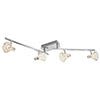 Searchlight Flute Dimmable 4 Light LED Split-Bar Spotlights with Clear Acrylic Shades - 6364CC profile small image view 1