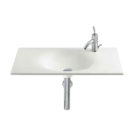Roca - Kalahari-N Single Bowl Wall Mounted Basin - 800mm - 0 or 1 Tap Hole Option