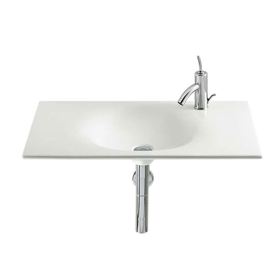 Roca - Kalahari-N Single Bowl Wall Mounted Basin - 800mm - 0 or 1 Tap Hole Option Large Image