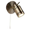 Searchlight Samson Antique Brass 1 Light Wall Mounted Spotlight - 6601AB profile small image view 1