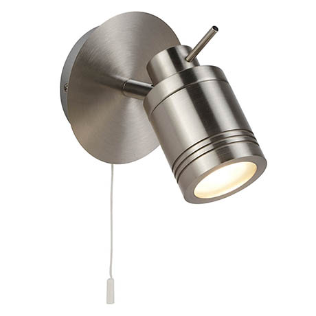 Searchlight Samson Satin Silver 1 Light Wall Mounted Spotlight - 6601SS