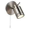 Searchlight Samson Satin Silver 1 Light Wall Mounted Spotlight - 6601SS profile small image view 1