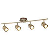 Searchlight Samson Antique Brass 4 Light LED Split-Bar Spotlights - 6604AB profile small image view 1