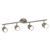Searchlight Samson Satin Silver 4 Light LED Split-Bar Spotlights - 6604SS profile small image view 1