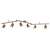 Searchlight Samson Antique Brass 6 Light LED Split-Bar Spotlights - 6606AB profile small image view 1