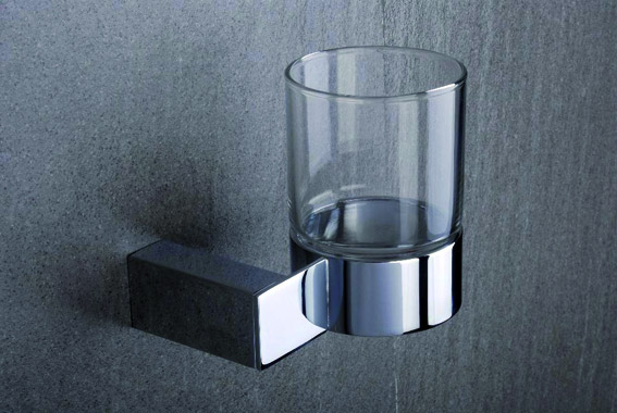 Tre Mercati - Edge Wall Mounted Glass Holder - 66520 Large Image