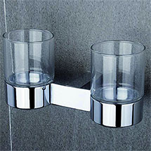 Tre Mercati - Edge Wall Mounted Double Glass Holder - 66525 Medium Image