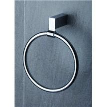 Tre Mercati - Edge Towel Ring - Chrome - 66560 Medium Image