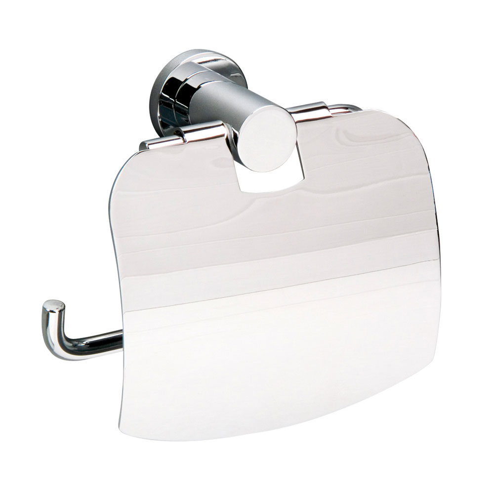 Miller - Montana Toilet Roll Holder with Lid - 6707C Large Image