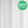White Anti-Bacterial Polyester Shower Curtain W2000 x H2000mm - 67318 profile small image view 1