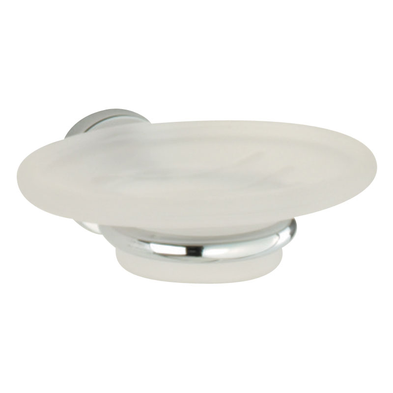Roper Rhodes Minima Frosted Glass Soap Dish & Holder - 6914.02 Large Image