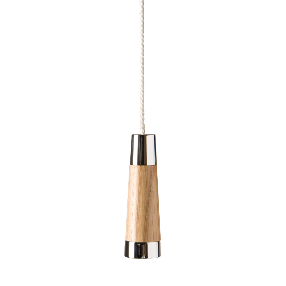 Miller - Classic Chrome and Natural Oak Conical Light Pull - 697C