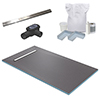 600 Linear 1600 x 900 Wet Room Walk In Rectangular Tray Former Kit (End Waste) profile small image view 1