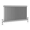 Keswick Grey 600 x 988mm Cast Iron Style Traditional 2 Column Radiator profile small image view 1
