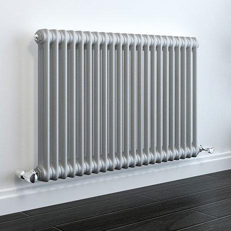 Keswick Grey 600 x 988mm Cast Iron Style Traditional 2 Column Radiator