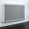 Keswick Grey 600 x 988mm Cast Iron Style Traditional 2 Column Radiator profile small image view 1