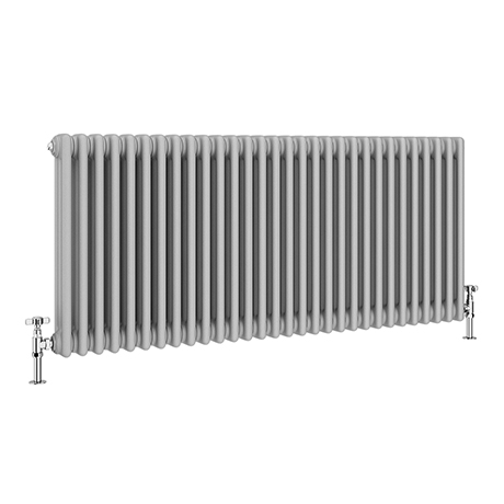 Keswick Grey 600 x 1355mm Cast Iron Style Traditional 3 Column Radiator