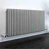 Keswick Grey 600 x 1355mm Cast Iron Style Traditional 3 Column Radiator profile small image view 1