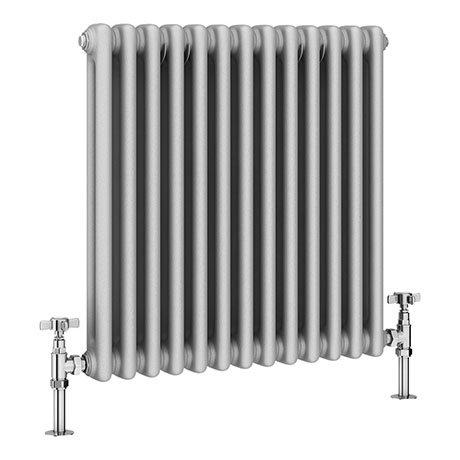 Keswick Grey 600 x 592mm Cast Iron Style Traditional 2 Column Radiator