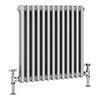 Keswick Grey 600 x 592mm Cast Iron Style Traditional 2 Column Radiator profile small image view 1