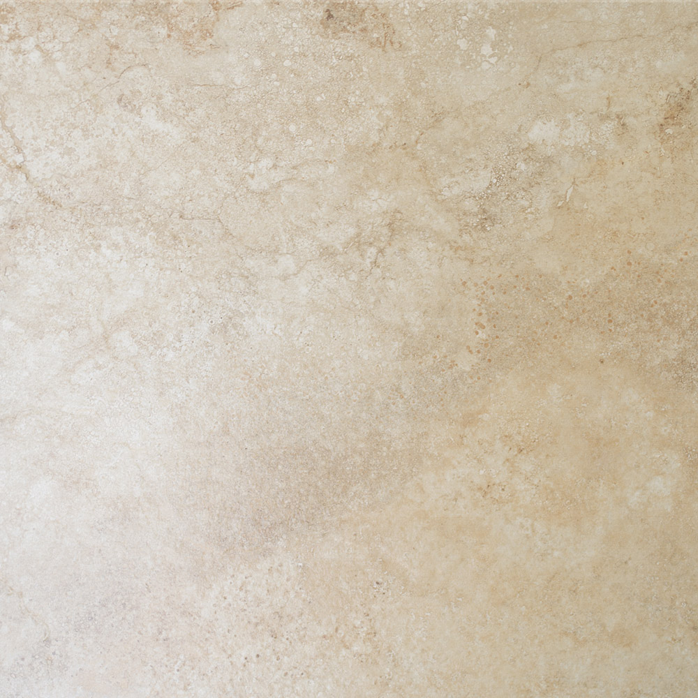 Salerno Cream Travertine Effect Floor Tiles - 450mm x 450mm Large Image