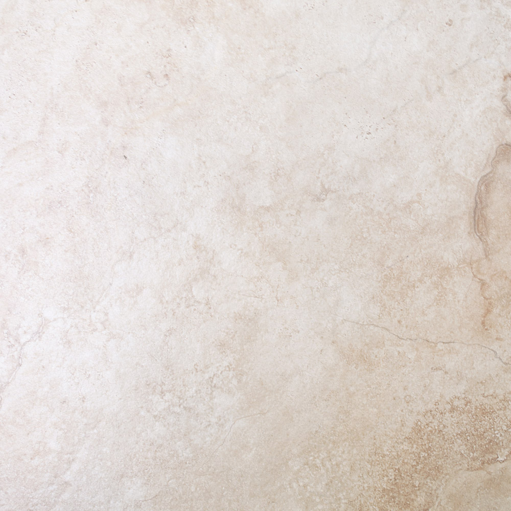 Salerno Ivory Travertine Effect Floor Tiles - 450mm x 450mm Large Image