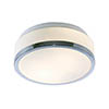 Searchlight Discs 23cm 2 Light Flush Fitting with Opal Glass Shade & Chrome Trim - 7039-23CC profile small image view 1