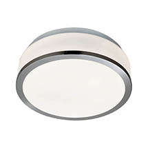 Searchlight Discs 23cm 2 Light Flush Fitting with Opal Glass Shade & Satin Silver Trim - 7039-23SS M