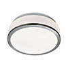 Searchlight Discs 23cm 2 Light Flush Fitting with Opal Glass Shade & Satin Silver Trim - 7039-23SS profile small image view 1