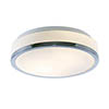 Searchlight Discs 28cm 2 Light Flush Fitting with Opal Glass Shade & Chrome Trim - 7039-28CC profile small image view 1