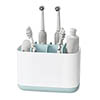 Joseph Joseph Easy-Store Large Toothbrush Caddy - White/Blue - 70501 profile small image view 1