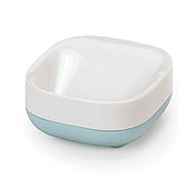 Joseph Joseph Slim Compact Soap Dish - White/Blue - 70502 Medium Image