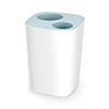 Joseph Joseph Split Bathroom Waste Separation Bin - White/Blue - 70505 Medium Image